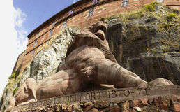 Lion of Belfort in France Stock Photography