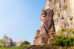 Lion of Belfort historical monument in France. Lion of Belfort historical monument, sculpted by Bartholdi in France stock images