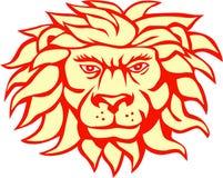Lion Big Cat Head Retro arrabbiato Fotografia Stock