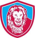 Lion Big Cat Head Shield Retro Royalty Free Stock Image