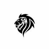Lion black logo Stock Photography