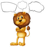 A lion with the blank callouts vector illustration
