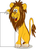 Lion with blank sign Stock Photos
