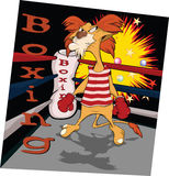 Lion the boxer. Cartoon Stock Images