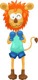Lion Boxing vector Royalty Free Stock Photos