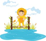 Lion boy Royalty Free Stock Photo
