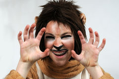 Lion with braces Royalty Free Stock Image