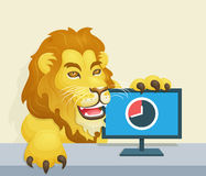 The lion - Brazilian Famous Income Tax Concept Royalty Free Stock Images