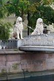 Lion bridge, St Petersburg, Russia Stock Photos