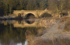 The Lion bridge over the River Aln Royalty Free Stock Photo