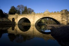 The Lion bridge over the River Aln Royalty Free Stock Images