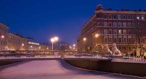 Lion Bridge. Saint-Petersburg. Russia Royalty Free Stock Image