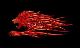 Lion brûlant Photographie stock