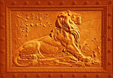 Lion bronze Royalty Free Stock Images