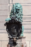 Lion Bronze Statue Munich Fotografia Stock