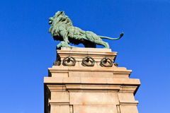 Lion Bronze statue, Vienna, Austria Stock Image