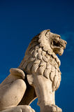 Lion at Budapest fisherman's Bastion Stock Photography