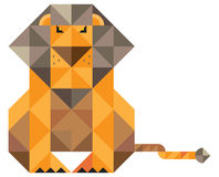 Lion built of triangular elements Stock Images
