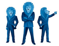 Lion businessman mascot Royalty Free Stock Photos