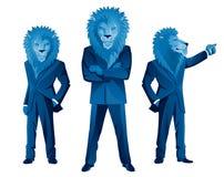 Lion businessman mascot Royalty Free Stock Photos