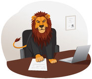 Lion businessman Stock Photos