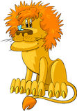 Lion with a butterfly Stock Image