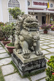 Lion at the Cao Dai temple Royalty Free Stock Photography