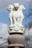 Lion Capital des piliers d'Ashoka de Sarnath Photo stock