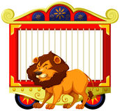Lion and carnival cage Stock Images