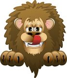 Lion Cartoon. A Funny Cartoon Lion Background Stock Photos