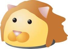Lion cartoon. Cartoon head of a lion, 3d isometric illustration Stock Photography
