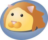 Lion cartoon. Cartoon head of a lion, cute animal illustration Stock Photo