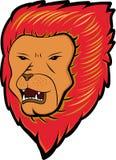 Lion Cartoon dai capelli rossi Immagini Stock