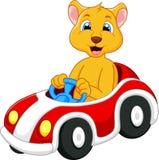 Lion cartoon driving car. Illustration of Lion cartoon driving car Stock Photography