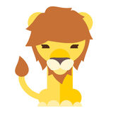 lion cartoon flat style Royalty Free Stock Photography