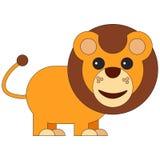 Lion in cartoon flat style stock illustration