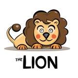 Lion Cartoon - gullig djur vektorillustration stock illustrationer