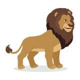 Lion Cartoon Icon dans la conception plate de style Photo stock