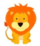 Lion cartoon. Illustration of cute cartoon lion Royalty Free Stock Photo