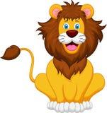Lion cartoon. Illustration of cute lion cartoon Stock Photography