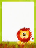 Lion cartoon Stock Image