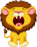 Lion cartoon roaring Stock Photos