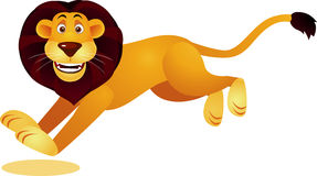 Lion cartoon running Stock Photo