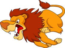 Lion cartoon running Stock Photos