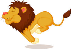 Lion cartoon running Royalty Free Stock Photos