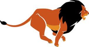 Lion Cartoon Running Royalty Free Stock Images