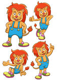 Lion cartoon set Royalty Free Stock Image