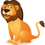 Lion cartoon sitting Stock Photos