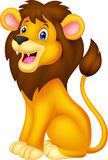 Lion cartoon sitting Stock Images