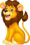 Lion Cartoon-Sitzen Stockbilder